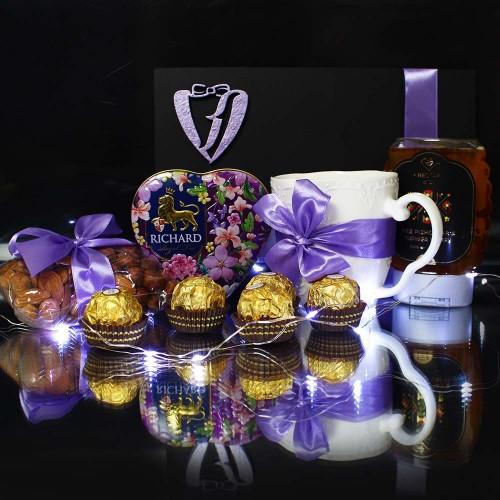 Подарунковий медово-чайний набір ►Lilac від Franklin-3