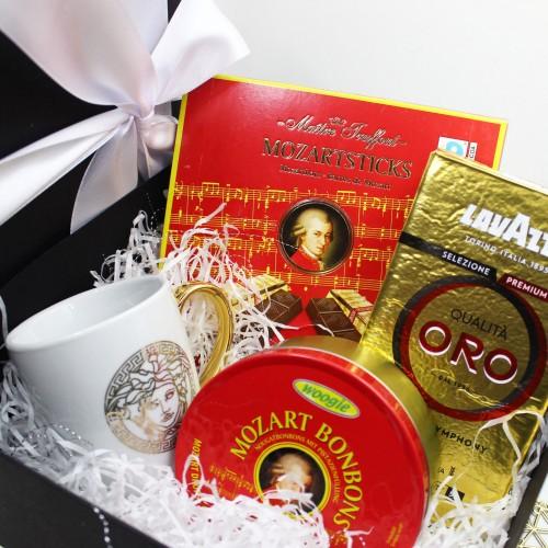 Подарунковий набір з кавою та австрійськими солодощами Mozart ▶FRANKLIN-3