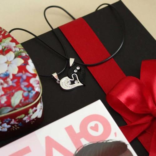 Подарочный набор любимому с подвесками, ромом и шоколадом Together ▶FRANKLIN -4