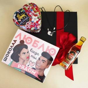 Подарочный набор любимому с подвесками, ромом и шоколадом Together ▶FRANKLIN -1
