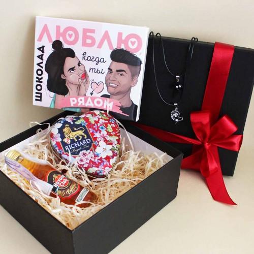 Подарочный набор любимому с подвесками, ромом и шоколадом Together ▶FRANKLIN -3