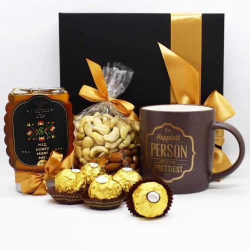 Набір подарунковий медово-горіховий з чашкою Useful ►FRANKLIN-1