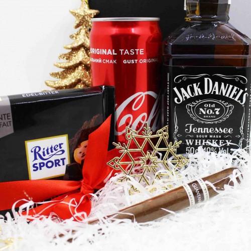 Набір подарунковий з віскі, колою та кубинською сигарою Bomb ▶FRANKLIN -7