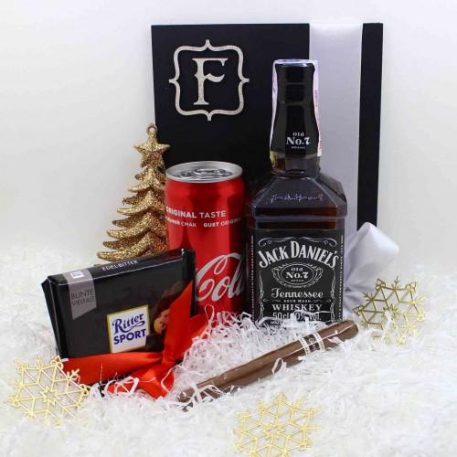 Набір подарунковий з віскі, колою та кубинською сигарою Bomb ▶FRANKLIN -2