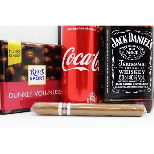 Набір подарунковий з віскі, колою та кубинською сигарою Bomb ▶FRANKLIN -4
