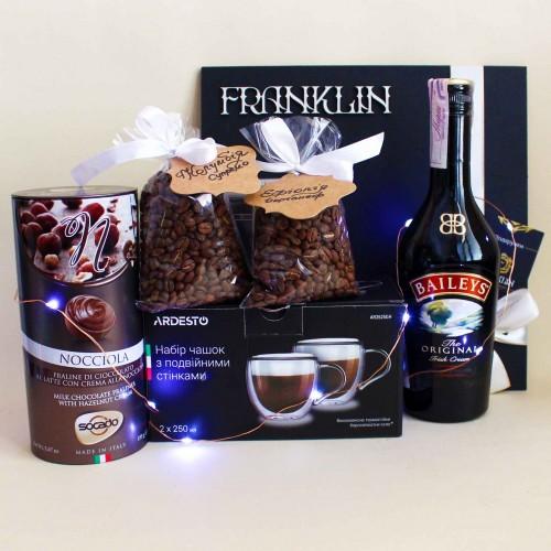 Кофейный подарочный набор ►Baileys с ликёром и стильными чашками от FRANKLIN-1