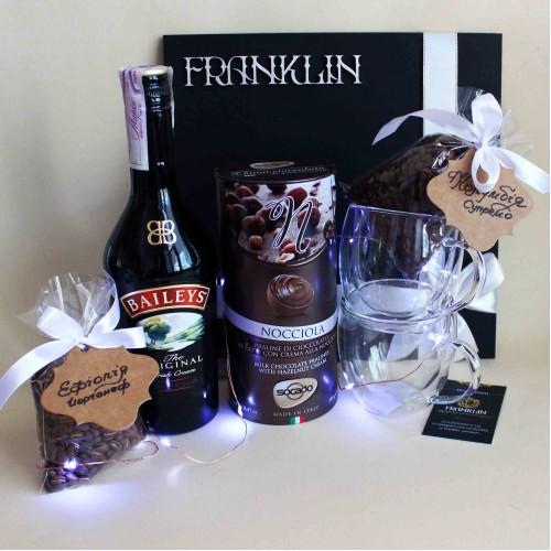 Кофейный подарочный набор ►Baileys с ликёром и стильными чашками от FRANKLIN-4