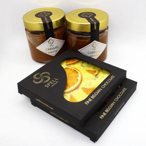 Набір подарунковий з бельгійським шоколадом, карамеллю та кавою Delicious ►FRANKLIN-3