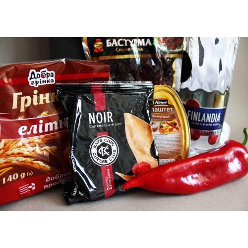 Подарочный набор для мужчин с водкой и сытной закуской Finlandia ▶Franklin-4