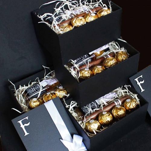 Подарочный набор для мужчин с минибутылочкой виски и сигарой Happy Moment ►Franklin-4