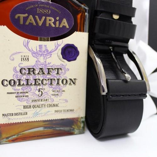 Подарочный набор для мужчин с коньяком, кожаным ремнем и шоколадом Macho ▶FRANKLIN-4
