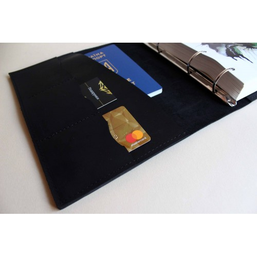 Деловой подарочный набор для мужчин с коньяком Hennessy и кожаным блокнотом ▶Presentable-7