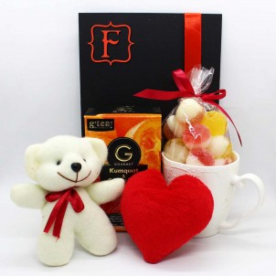 Жіночий подарунковий набір коханим з м'якою іграшкою та чашкою Marmalade ▶ FRANKLIN -1