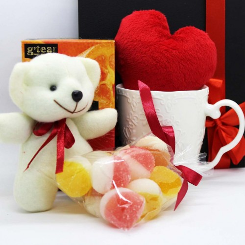 Жіночий подарунковий набір коханим з м'якою іграшкою та чашкою Marmalade ▶ FRANKLIN -4