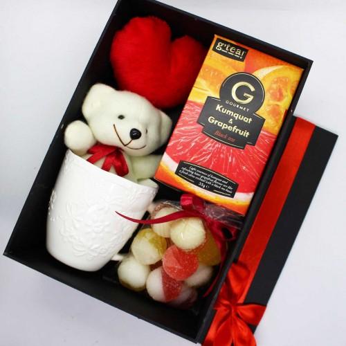 Жіночий подарунковий набір коханим з м'якою іграшкою та чашкою Marmalade ▶ FRANKLIN -2