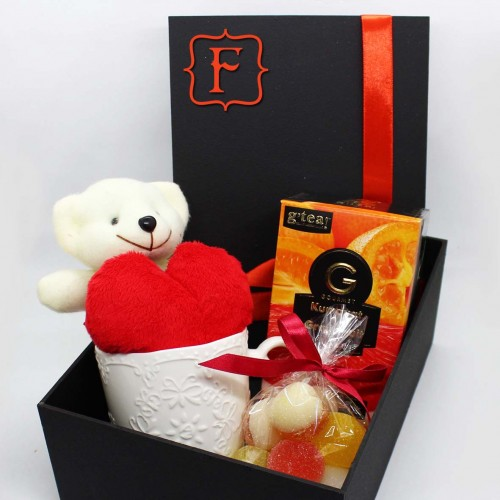 Жіночий подарунковий набір коханим з м'якою іграшкою та чашкою Marmalade ▶ FRANKLIN -3