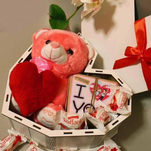 Романтичний подарунковий набір з ведмедиком та печивом з передбаченнями ►Only You-2