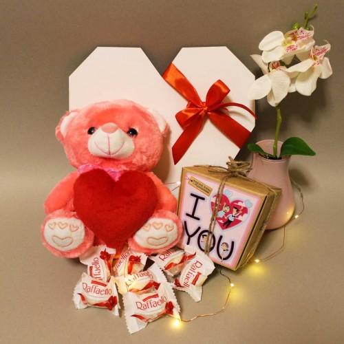 Романтичний подарунковий набір з ведмедиком та печивом з передбаченнями ►Only You-5