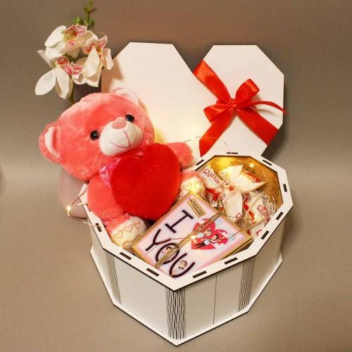 Романтичний подарунковий набір з ведмедиком та печивом з передбаченнями ►Only You-1