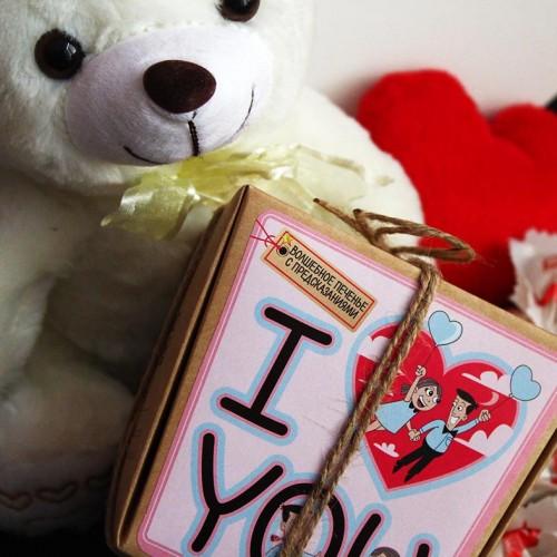 Романтичний подарунковий набір з ведмедиком та печивом з передбаченнями ►Only You-4