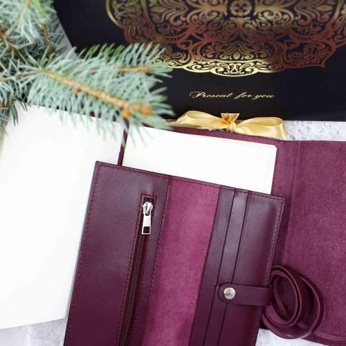 Женский набор кожаных аксессуаров Izabella Maxi ►Franklin-3