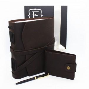 Подарочный набор кожаных аксессуаров One Style Chocolate ►FRANKLIN-1