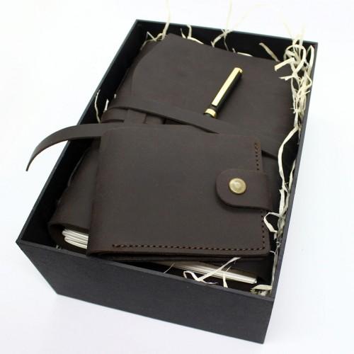 Подарочный набор кожаных аксессуаров One Style Chocolate ►FRANKLIN-9