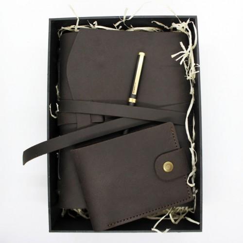 Подарочный набор кожаных аксессуаров One Style Chocolate ►FRANKLIN-2