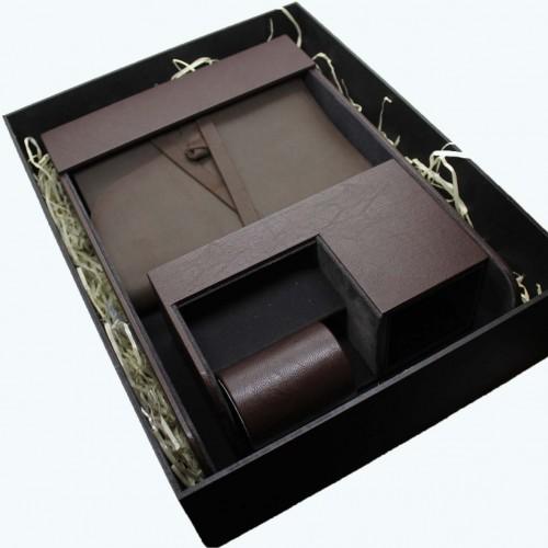 Офисный подарочный набор для мужчин с кожаным блокнотом Lucas ►FRANKLIN-9