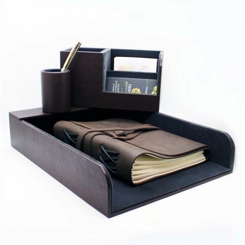 Офисный подарочный набор для мужчин с кожаным блокнотом Lucas ►FRANKLIN-8