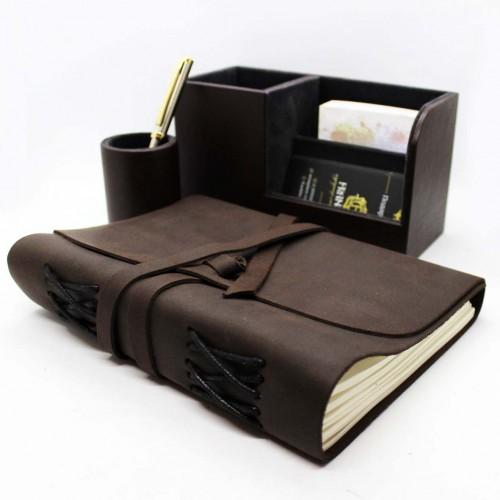 Офисный подарочный набор для мужчин с кожаным блокнотом Lucas ►FRANKLIN-7