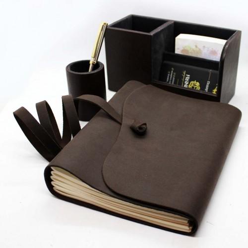 Офисный подарочный набор для мужчин с кожаным блокнотом Lucas ►FRANKLIN-6