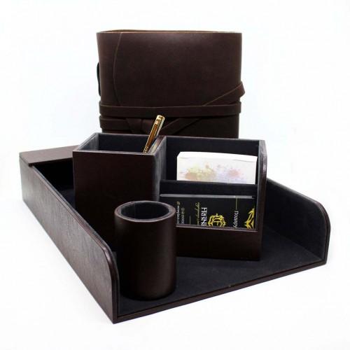 Офисный подарочный набор для мужчин с кожаным блокнотом Lucas ►FRANKLIN-1