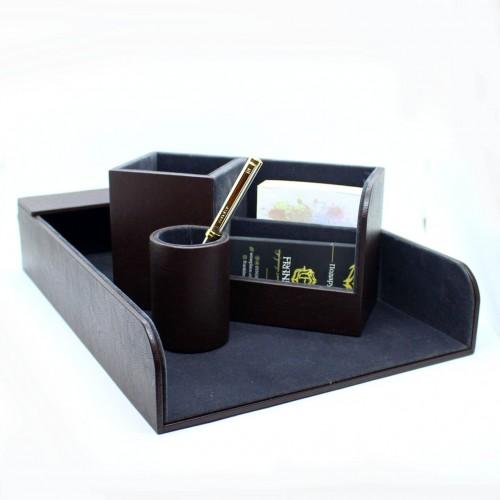 Офисный подарочный набор для мужчин с кожаным блокнотом Lucas ►FRANKLIN-5