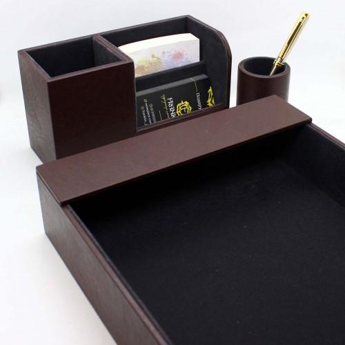 Офисный подарочный набор для мужчин с кожаным блокнотом Lucas ►FRANKLIN-4