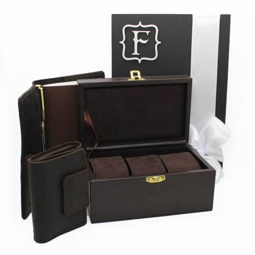 Мужской подарочный набор с боксом для наручных часов Time is money