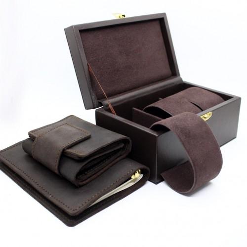 Мужской подарочный набор с боксом для часов Time is money ►FRANKLIN-2
