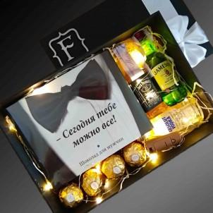 Подарочный набор для мужчин с алкоголем и шоколадом All Inclusive ▶FRANKLIN -1