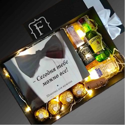 Подарочный набор с алкоголем и шоколадом All Inclusive
