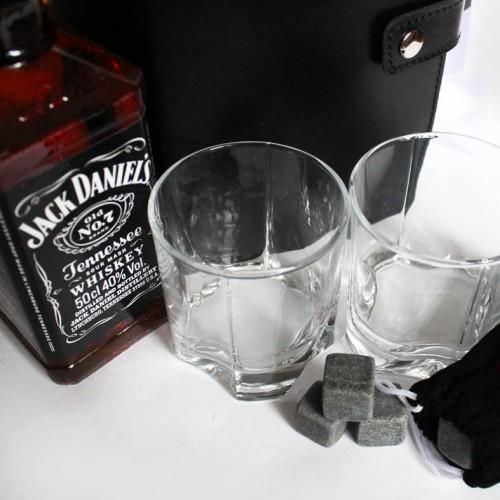 Деловой подарочный набор для мужчин с кожаным блокнотом и виски Big Boss ▶ FRANKLIN -5