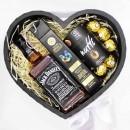 Подарочный набор для любимых мужчин с алкоголем Black Heart-3