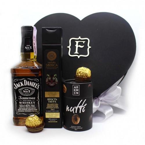 Подарочный набор для мужчин в виде сердца с алкоголем Black Heart ▶FRANKLIN -1