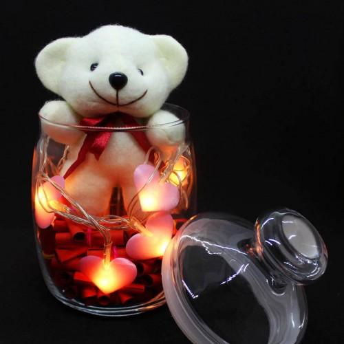Светящийся подарочный набор-аквариум с подсветкой для любимых Burning Heart ►FRANKLIN-3