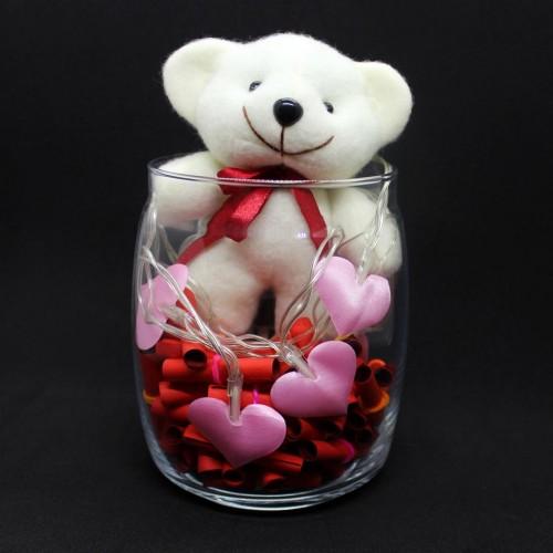 Светящийся подарочный набор-аквариум с подсветкой для любимых Burning Heart ► Franklin-5
