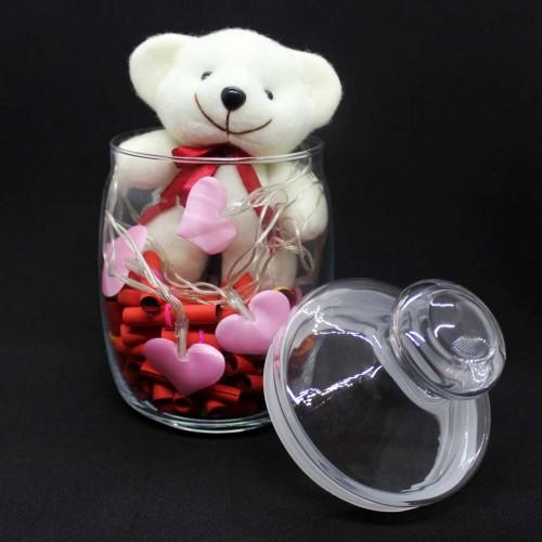 Светящийся подарочный набор-аквариум с подсветкой для любимых Burning Heart ►FRANKLIN-2