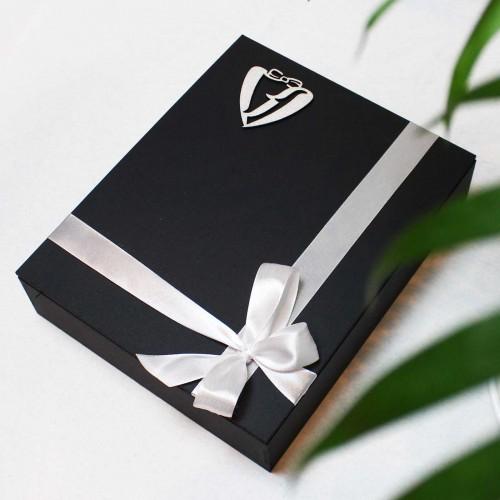 Подарунковий набір шкіряних аксесуарів ►Business Bordo від Franklin-3