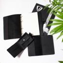 Набір з блокнотом та портмоне з натуральної шкіри ►Business Black Max-2