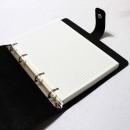 Набір з блокнотом та портмоне з натуральної шкіри ►Business Black Max-4