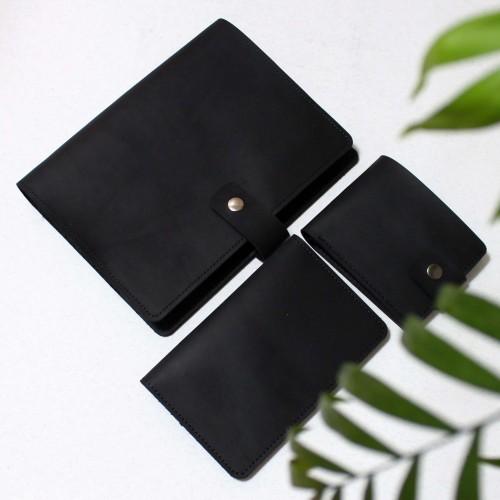 Подарунковий набір шкіряних аксесуарів ►Business Black Max від Franklin-5