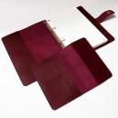 Набір з блокнотом та обкладинкою для документів з бордової шкіри -2